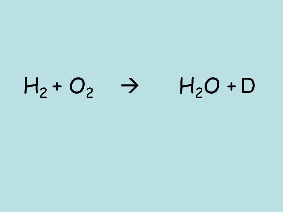 H2 + O2  H2O + D