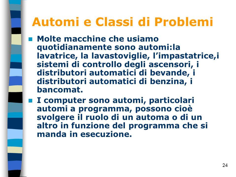 Automi e Classi di Problemi