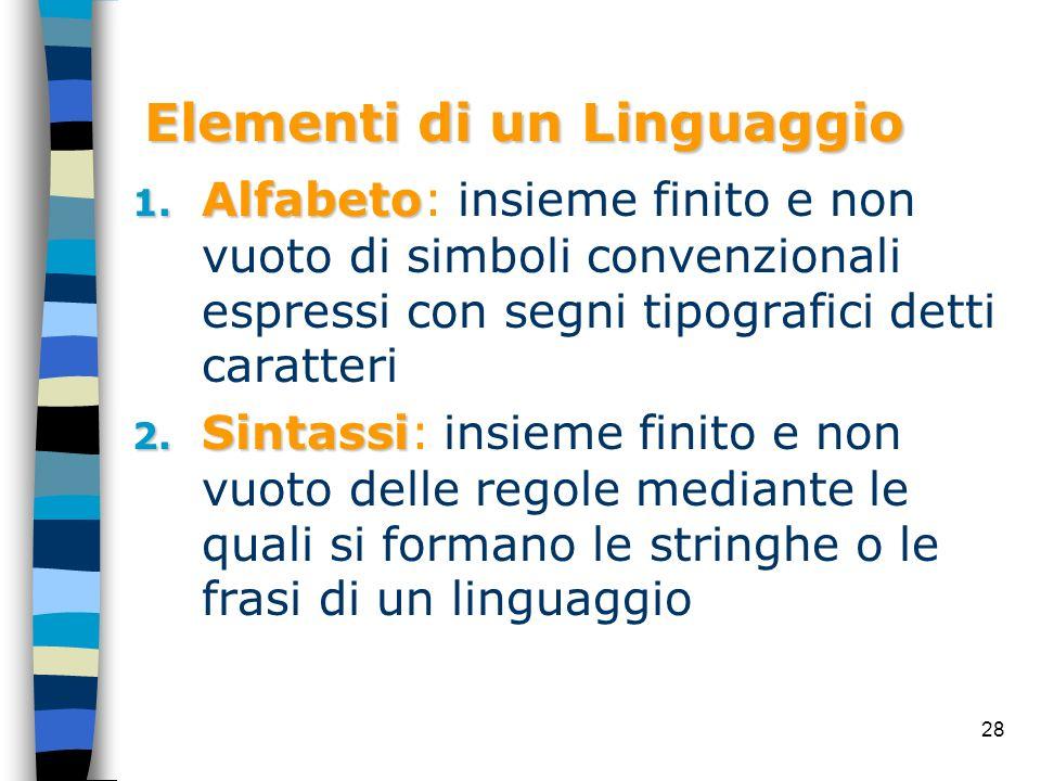 Elementi di un Linguaggio