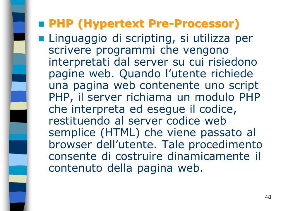 PHP (Hypertext Pre-Processor)