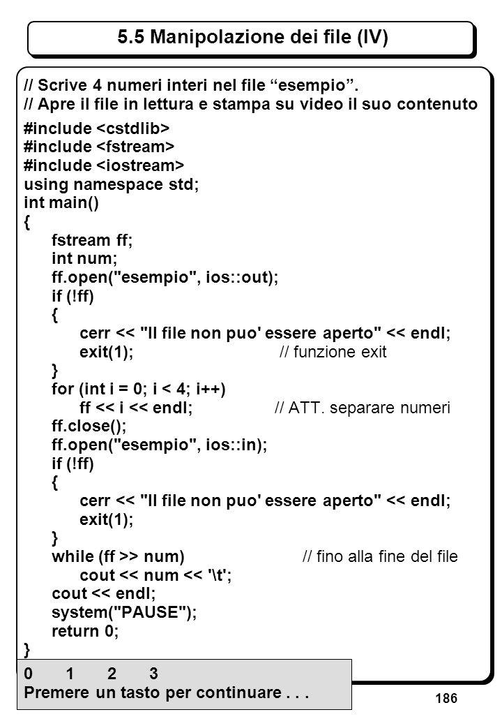 4.3 Espressioni aritmetiche e logiche (III)