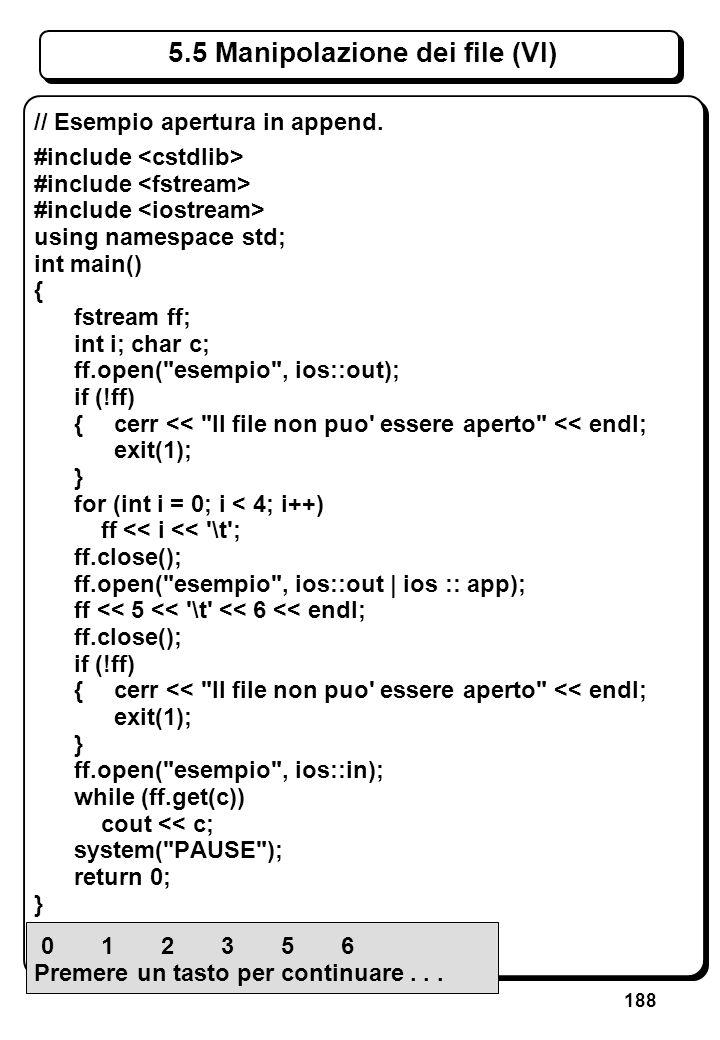 4.3 Espressioni aritmetiche e logiche (V)