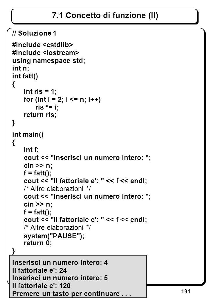 6. Istruzioni strutturate