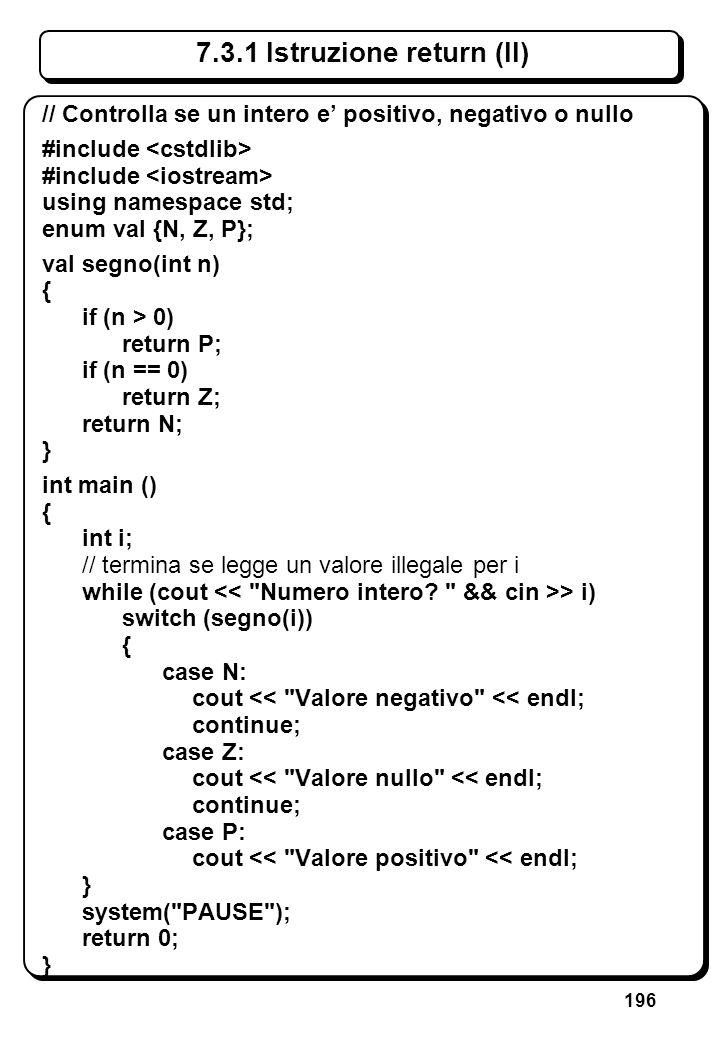 6.3.1 Istruzione if (V) // If in cascata