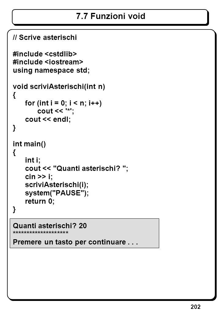 6.3.2 Istruzioni switch e break (II)