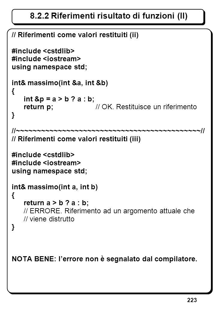 6.4.3 Istruzione for (VI) // Scrive una matrice di asterischi formata da r righe. // e c colonne, con r e c dati.