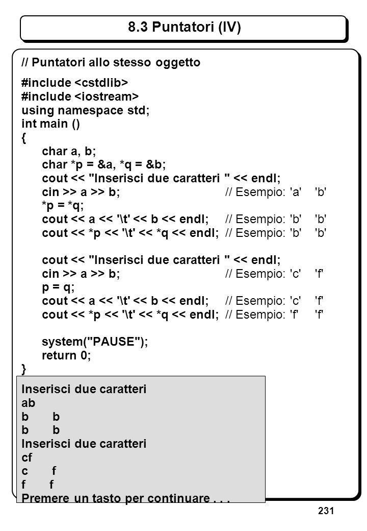 5.2 Operatore di Lettura Operatore di lettura definito per: