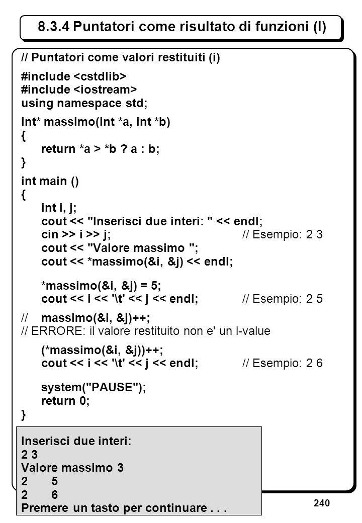 5.3 Errori sullo stream di ingresso (III)