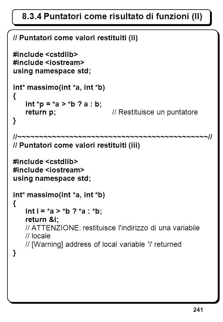 5.3 Errori sullo stream di ingresso (IV)