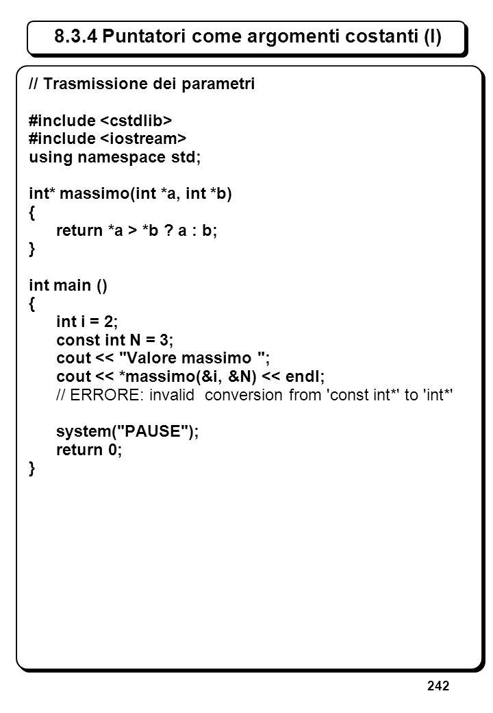 5.3 Errori sullo stream di ingresso (V)