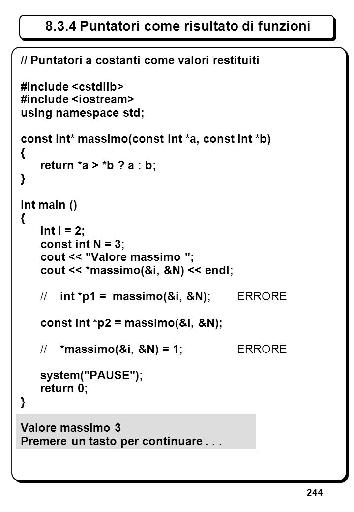5.3 Errori sullo stream di ingresso (VII)