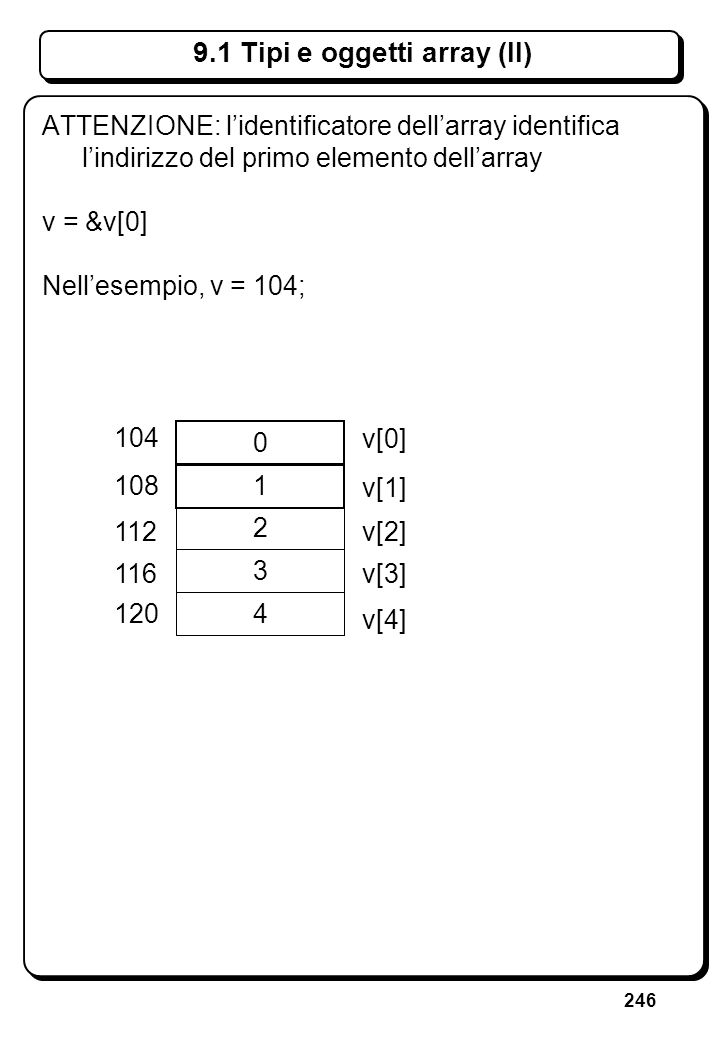 5.3 Errori sullo stream di ingresso (IX)