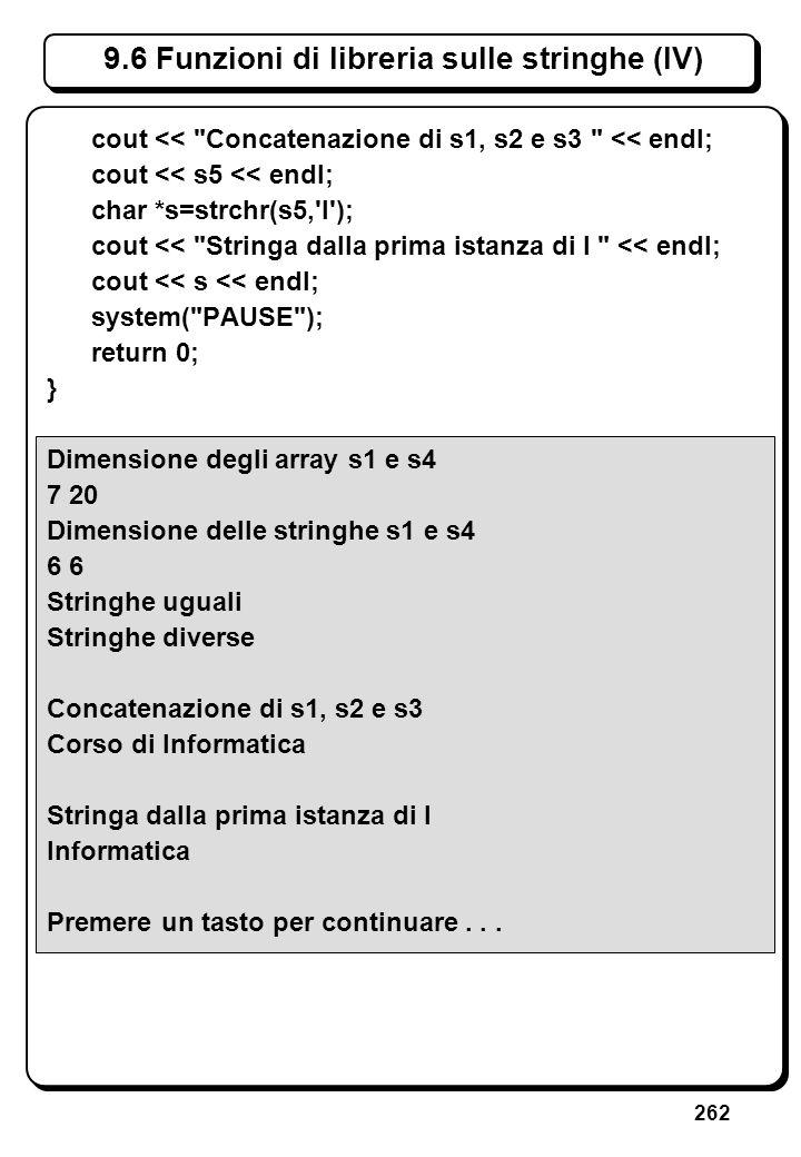 7.3.1 Istruzione return (I)// Restituisce il massimo termine della successione di. // Fibonacci minore o uguale al dato intero positivo n.