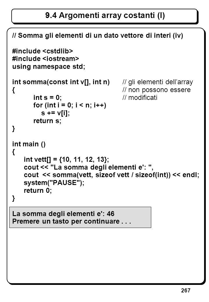 7.6 Argomenti e variabili locali (I)