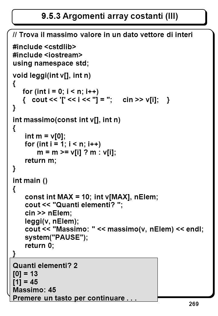 7.7 Funzioni void // Scrive asterischi #include <cstdlib>