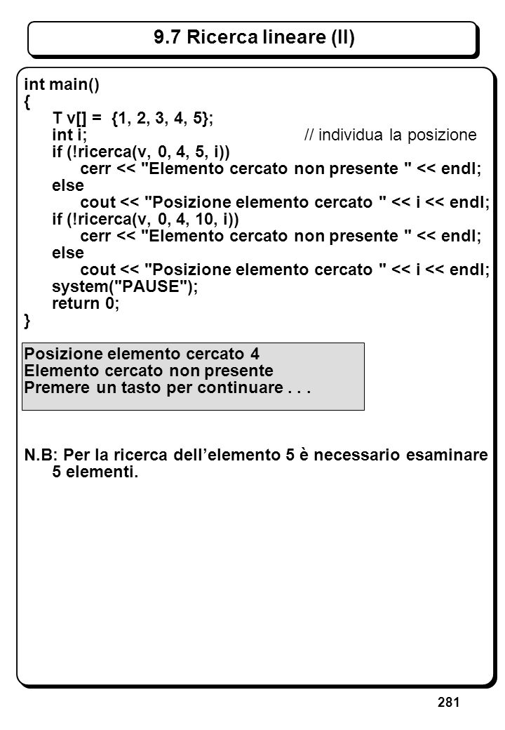 8.1 Tipi derivati Tipi fondamentali: