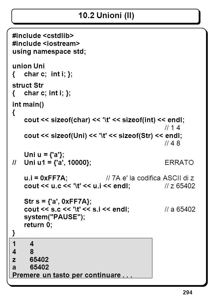 8.2.3 Riferimenti (VI) Esempio: