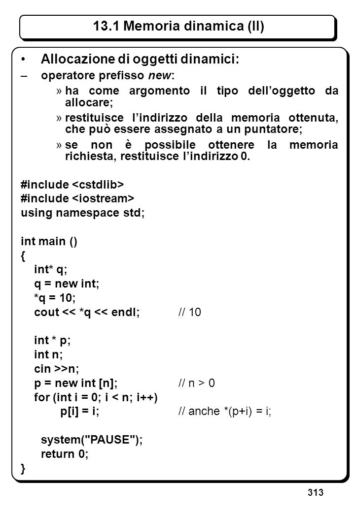 9.1 Tipi e oggetti array (II)