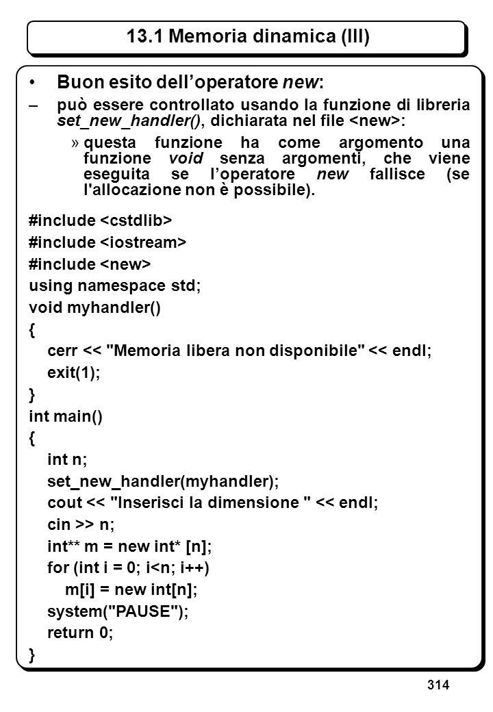 9.1 Tipi e oggetti array (III)