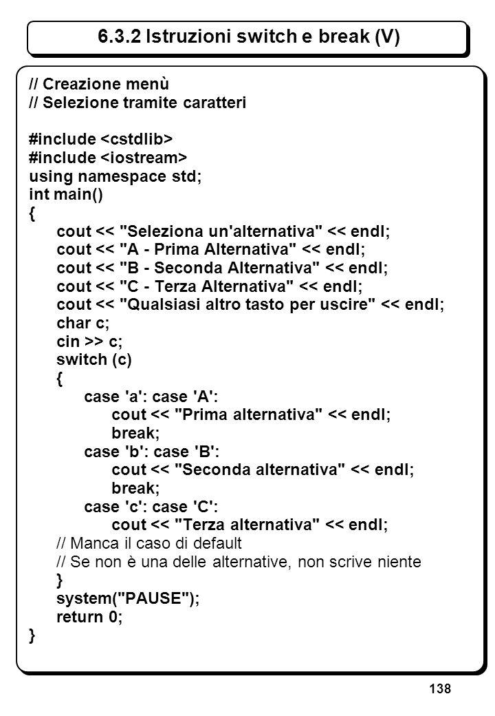 2.1 Metalinguaggio per il C++ (III)
