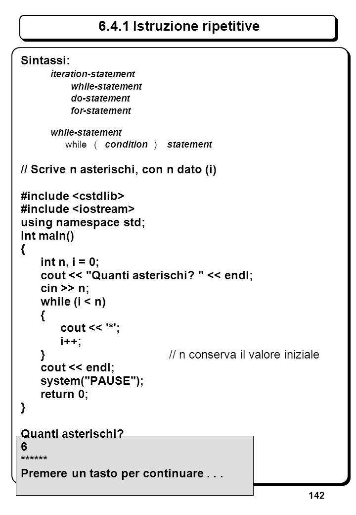 2.2 Sintassi C++ (III) Categorie sintattiche elementari (elementi lessicali): opportune sequenze di caratteri (token-character o whitespace);