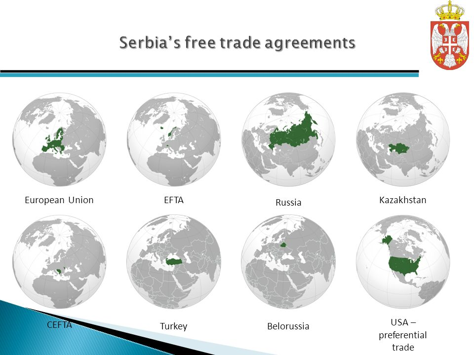 Serbia's free trade agreements