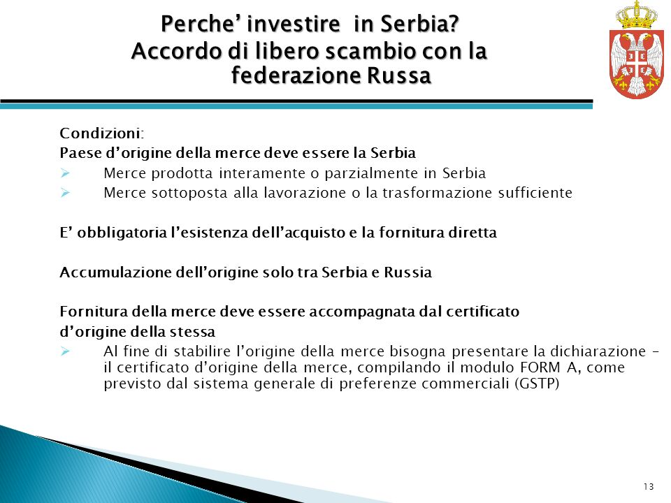 Perche' investire in Serbia