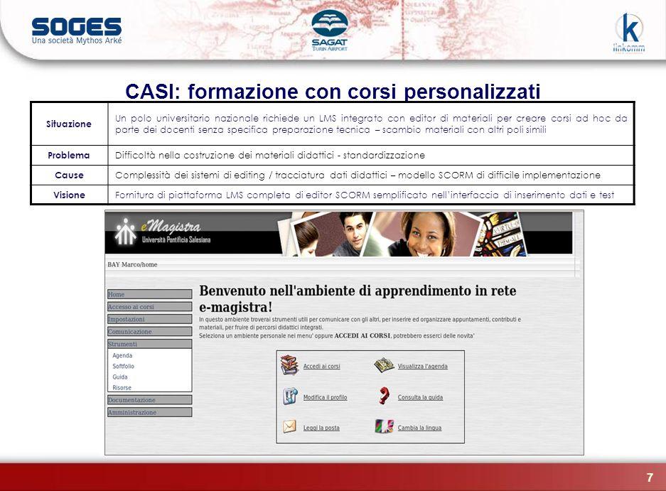 CASI: formazione con corsi personalizzati