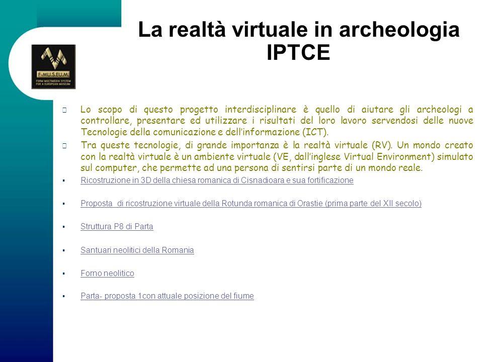 La realtà virtuale in archeologia IPTCE