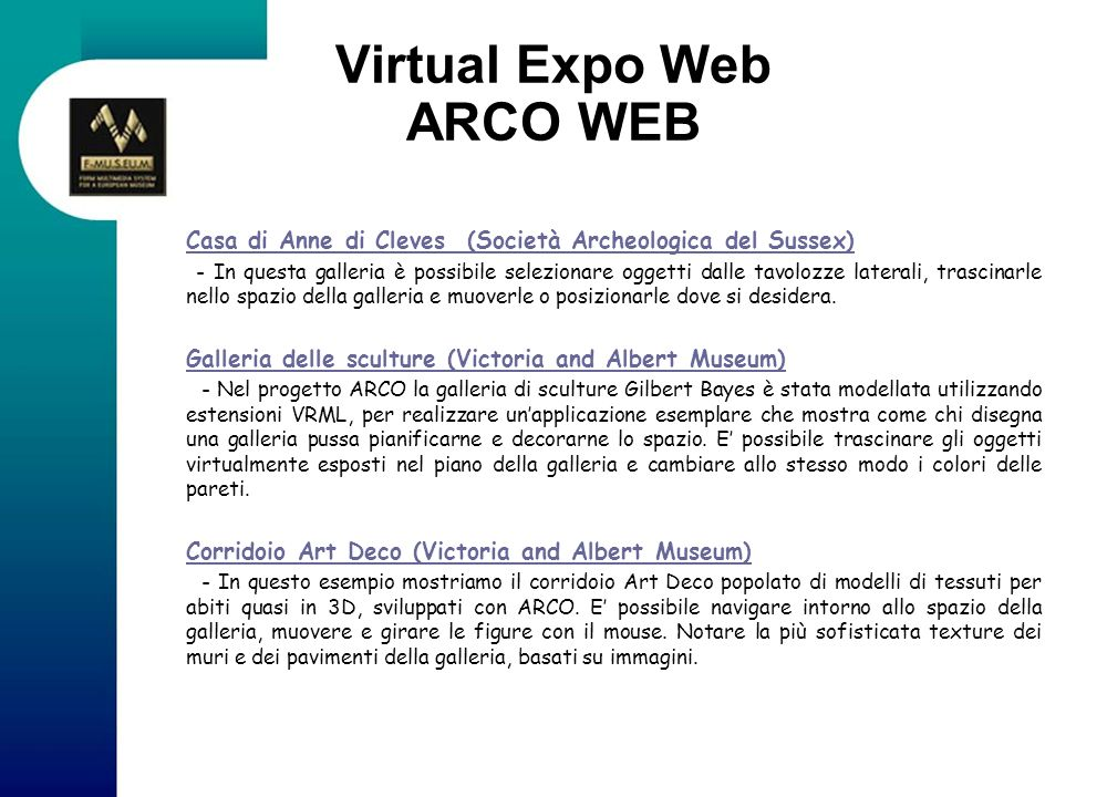 Virtual Expo Web ARCO WEB