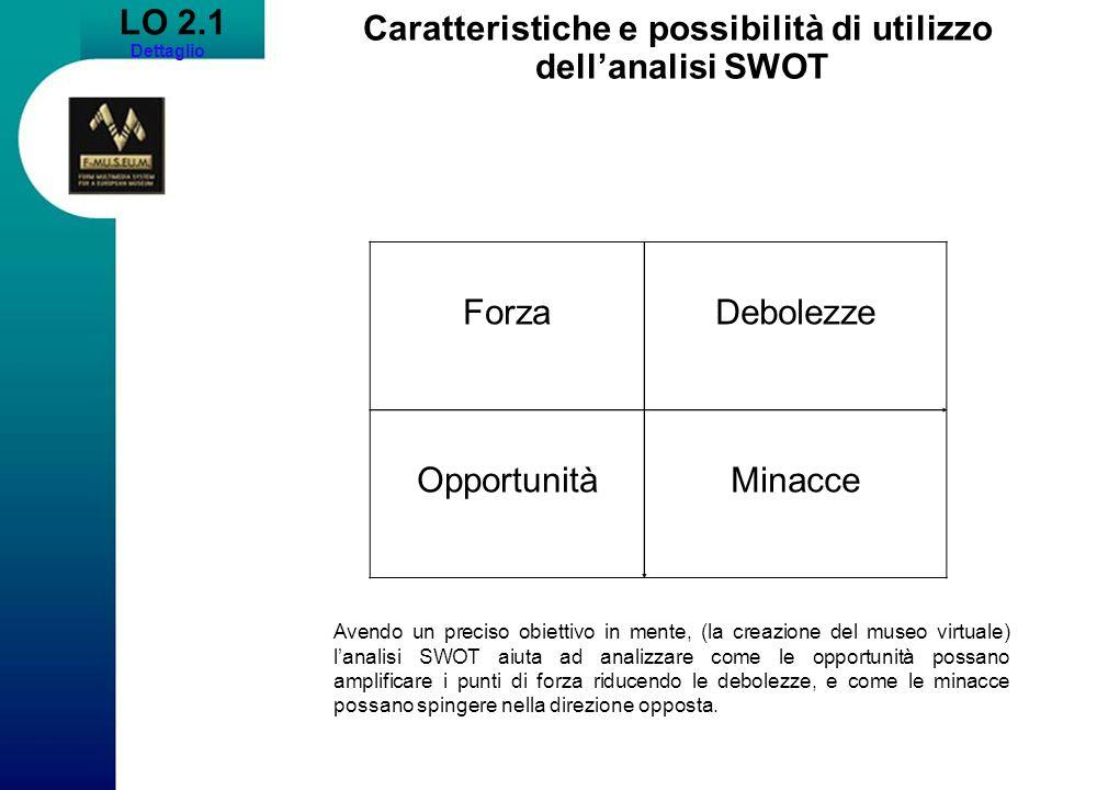 Caratteristiche e possibilità di utilizzo dell'analisi SWOT
