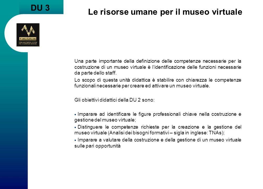 Le risorse umane per il museo virtuale