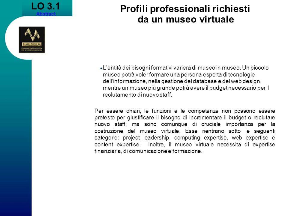 Profili professionali richiesti da un museo virtuale