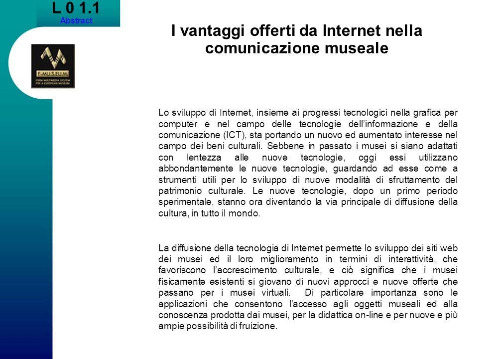 I vantaggi offerti da Internet nella comunicazione museale