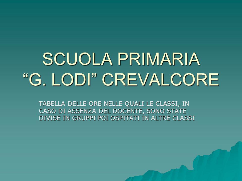 SCUOLA PRIMARIA G. LODI CREVALCORE