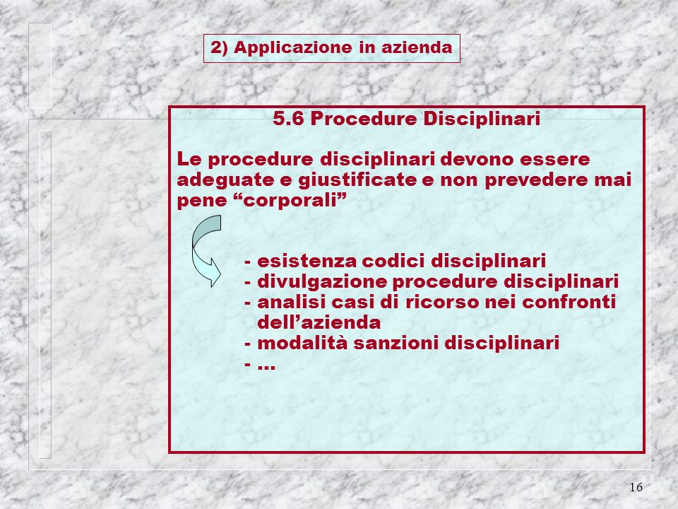 5.6 Procedure Disciplinari