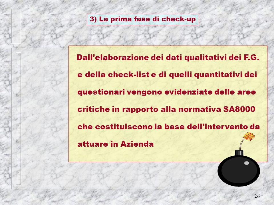 3) La prima fase di check-up