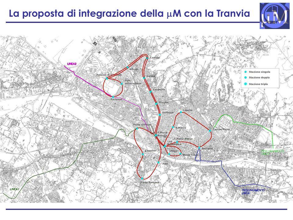 La proposta di integrazione della M con la Tranvia