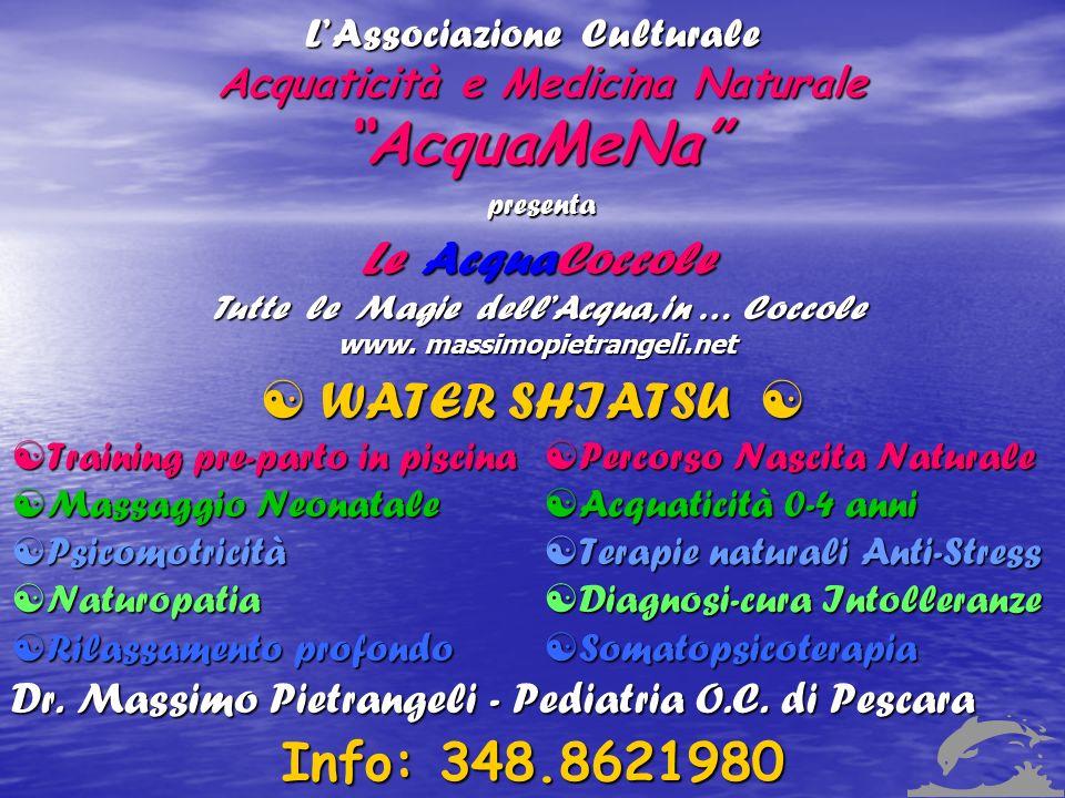 L'Associazione Culturale Acquaticità e Medicina Naturale AcquaMeNa