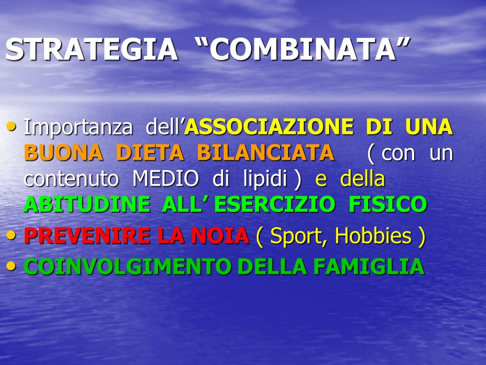 STRATEGIA COMBINATA