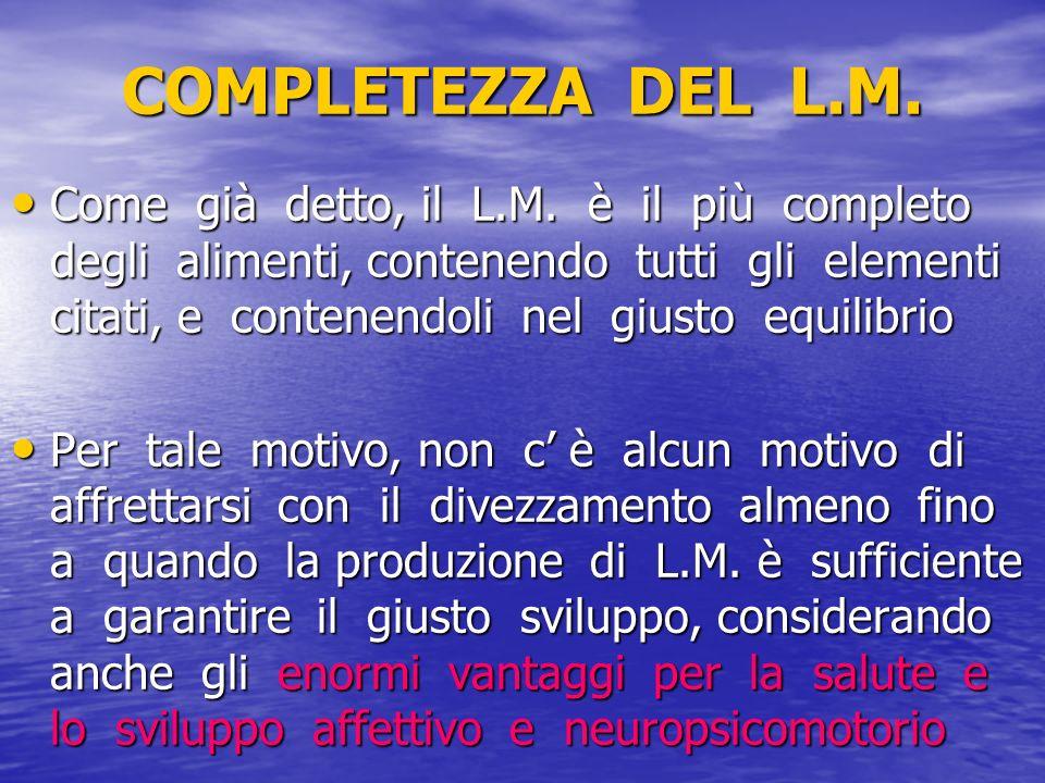 COMPLETEZZA DEL L.M.