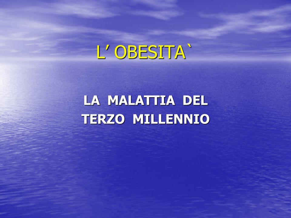 LA MALATTIA DEL TERZO MILLENNIO