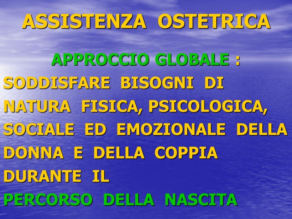 ASSISTENZA OSTETRICA APPROCCIO GLOBALE : SODDISFARE BISOGNI DI