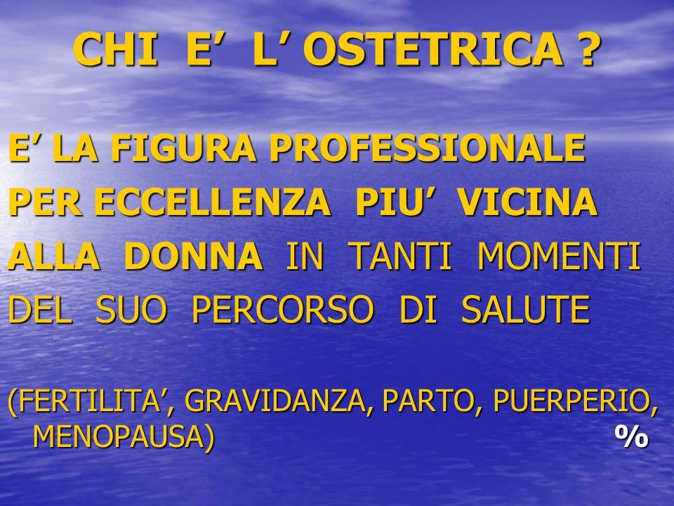 CHI E' L' OSTETRICA E' LA FIGURA PROFESSIONALE