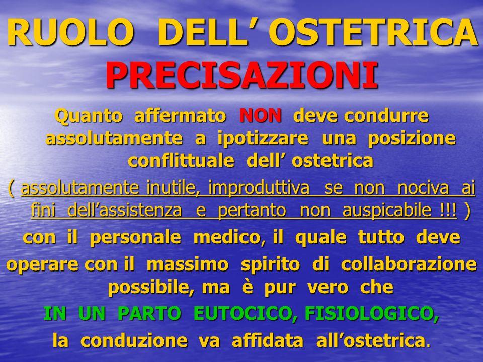 RUOLO DELL' OSTETRICA PRECISAZIONI
