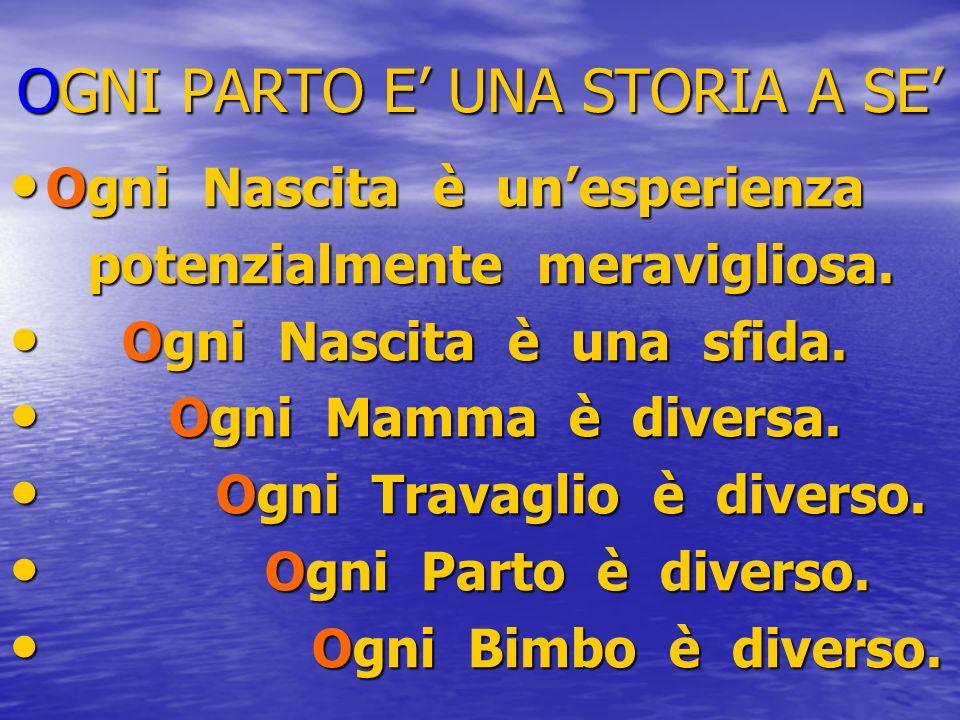 OGNI PARTO E' UNA STORIA A SE'