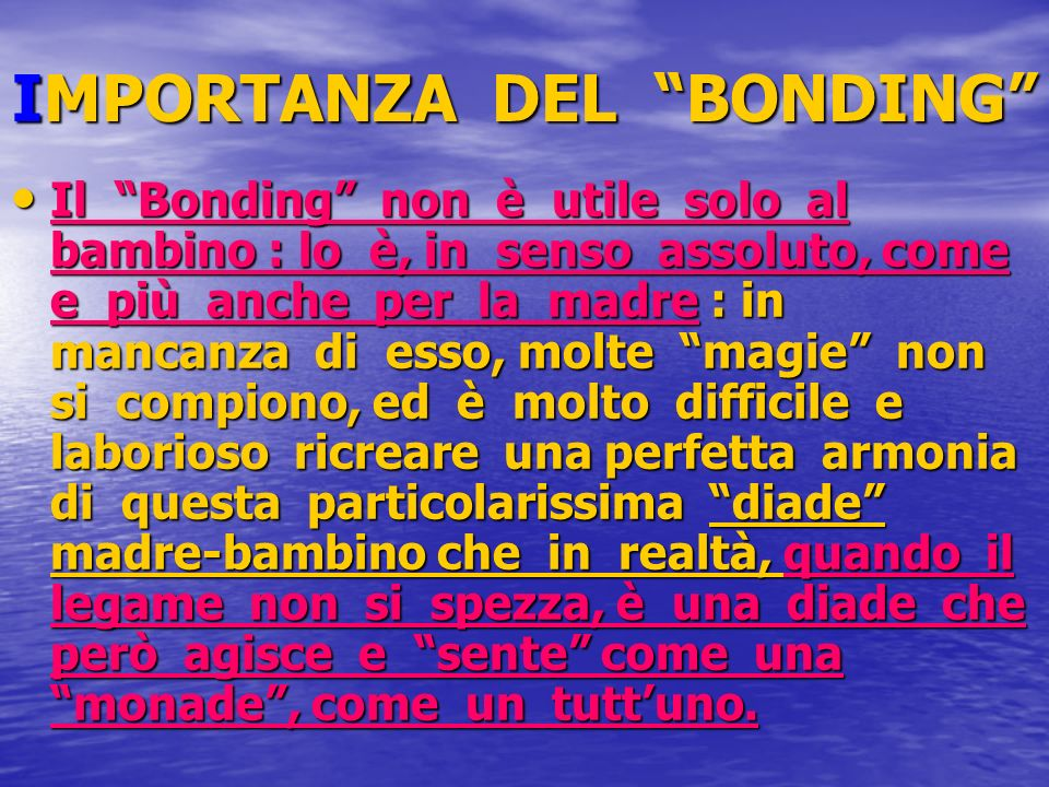 IMPORTANZA DEL BONDING