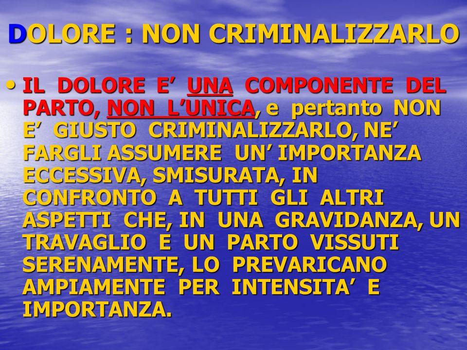 DOLORE : NON CRIMINALIZZARLO