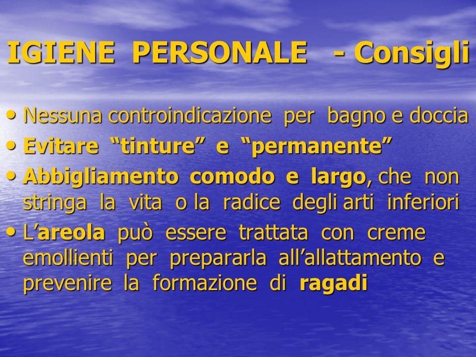 IGIENE PERSONALE - Consigli