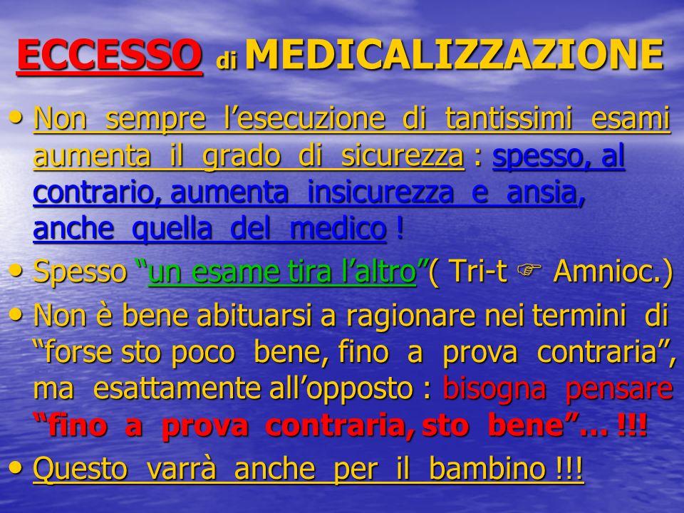 ECCESSO di MEDICALIZZAZIONE